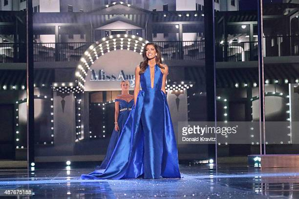 Miss Idaho Kalie Wright attends the Thursday Night Preliminaries 2016 Miss America Competition at Atlantic City Boardwalk Hall on September 10 2015...