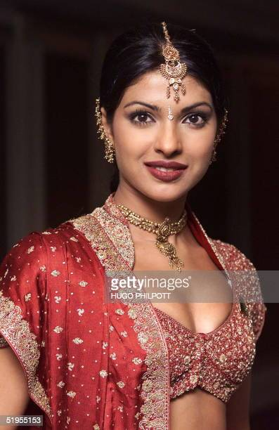Miss India18 year old 'Priyanka Chopra' poses for the cameras at the official Miss World photocall at the Grosvenor House in London 23 November 2000...