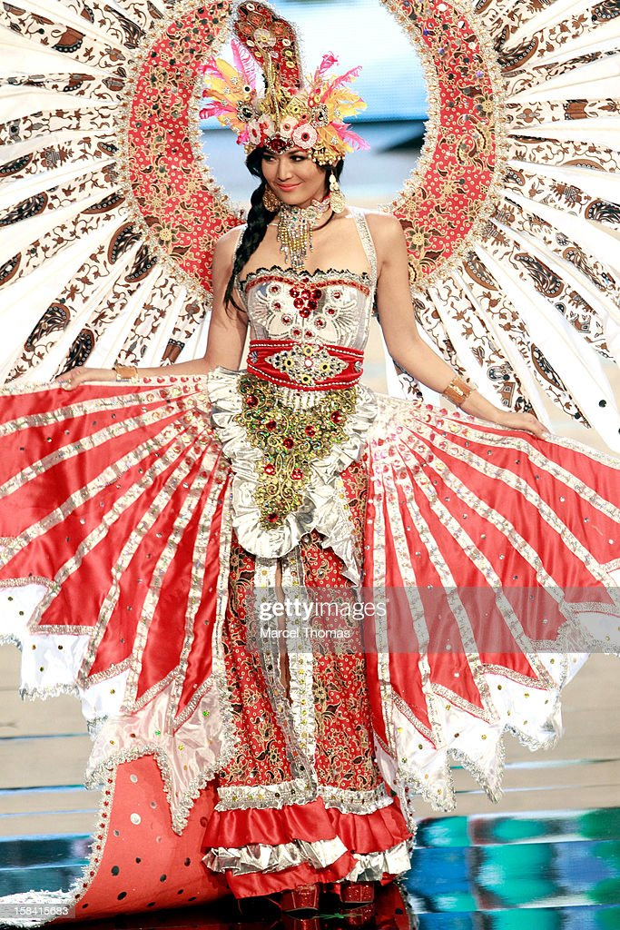 Miss Indonesia Maria Selena displays her national costume at the 2012 Miss Universe National Costume event at Planet Hollywood Casino Resort on December 14, 2012 in Las Vegas, Nevada.