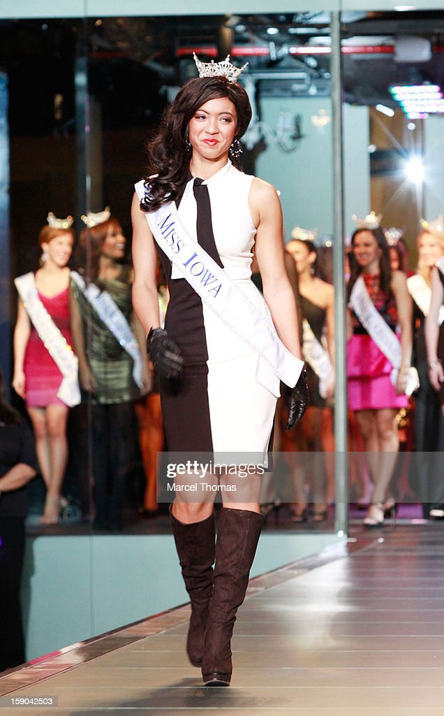 Miss Iowa Mariah Cary introduced at the 2013 Miss America Pageant 'Meet and Greet' Fashion Show at the Fashion Show mall on January 5, 2013 in Las Vegas, Nevada.