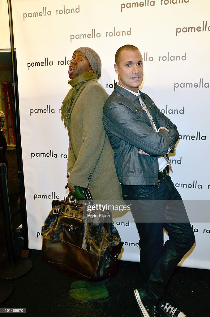 Miss J. Alexander and photographer Nigel Barker attend Pamella Roland during Fall 2013 Mercedes-Benz Fashion Week at The Studio at Lincoln Center on February 11, 2013 in New York City.