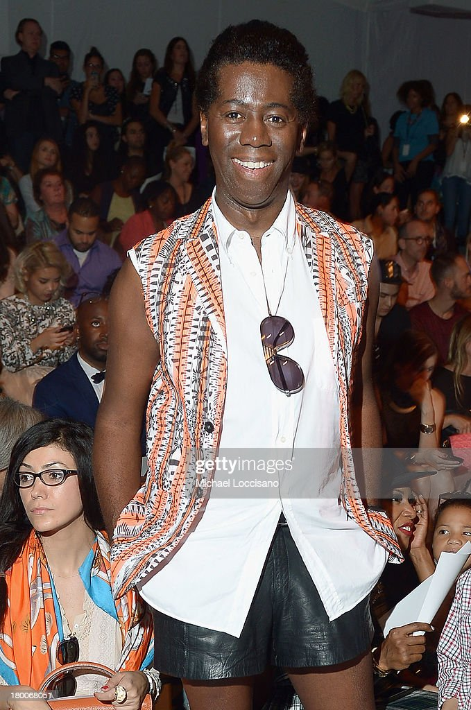 Miss <a gi-track='captionPersonalityLinkClicked' href=/galleries/search?phrase=J.+Alexander&family=editorial&specificpeople=698504 ng-click='$event.stopPropagation()'>J. Alexander</a> attends the Custo Barcelona fashion show during Mercedes-Benz Fashion Week Spring 2014 at The Stage at Lincoln Center on September 8, 2013 in New York City.