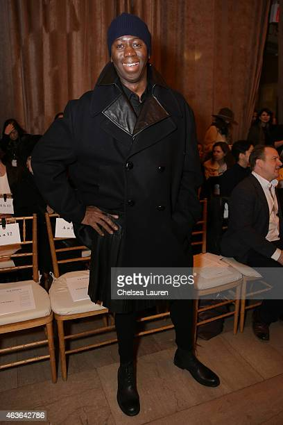 Miss J Alexander attends the Zac Posen fashion show at Vanderbilt Hall at Grand Central Terminal on February 16 2015 in New York City