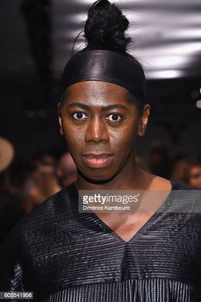 Miss J Alexander attends the Zac Posen fashion show during New York Fashion Week September 2016 at Spring Studios on September 12 2016 in New York...