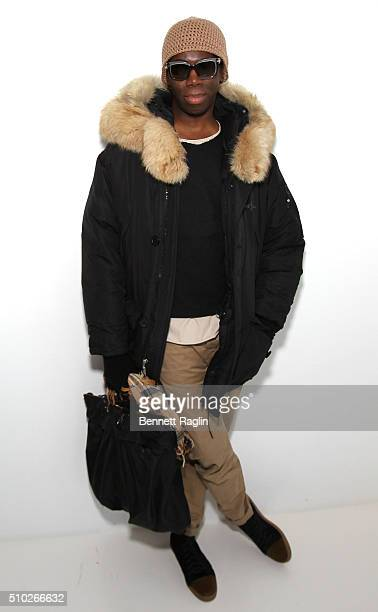 Miss J Alexander poses backstage during SheaMoisture at Laquan Smith F/W 2016 NYFW at Jack Studios on February 14 2016 in New York City