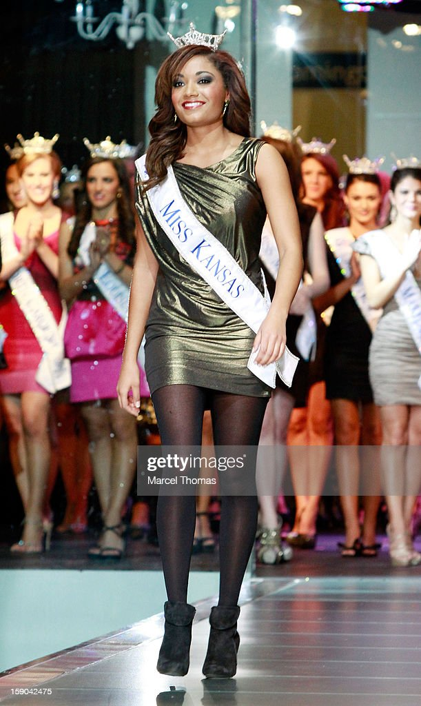 Miss Kansas Sloane Lewis introduced at the 2013 Miss America Pageant 'Meet and Greet' Fashion Show at the Fashion Show mall on January 5, 2013 in Las Vegas, Nevada.