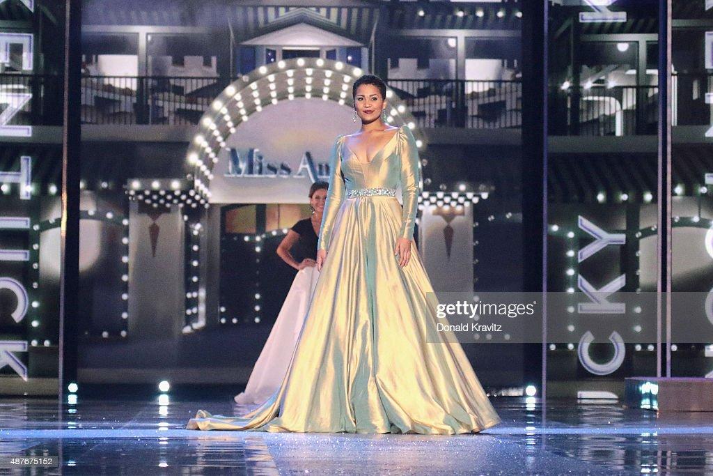 Miss Kentucky Clark Janell Davis attends the Thursday Night Preliminaries 2016 Miss America Competition at Atlantic City Boardwalk Hall on September...