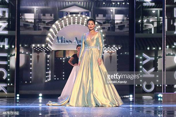 Miss Kentucky Clark Janell Davis attends the Thursday Night Preliminaries 2016 Miss America Competition at Atlantic City Boardwalk Hall on September...
