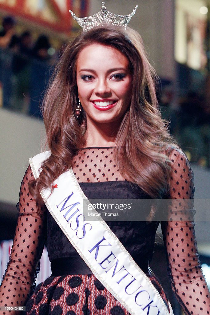 Miss Kentucky Jessica Caseblolt introduced at the 2013 Miss America Pageant 'Meet and Greet' Fashion Show at the Fashion Show mall on January 5, 2013 in Las Vegas, Nevada.