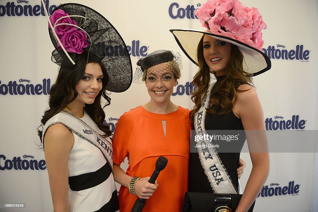Miss Kentucky Teen USA 2014 Megan Ducharm, Cottonelle spokesperson and documentary filmmaker Cherry Healey and Miss Kentucky USA 2014 Destin Kincer attend Cottonelle Celebrity 'Clean Room' at the 140th Kentucky Derby at Churchill Downs on May 3, 2014 in Louisville, Kentucky.
