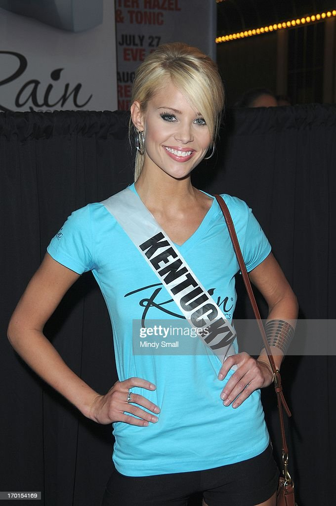 Miss Kentucky USA Allie Leggett appears at the D Las Vegas for a meet and greet and autograph signing on June 7, 2013 in Las Vegas, Nevada.