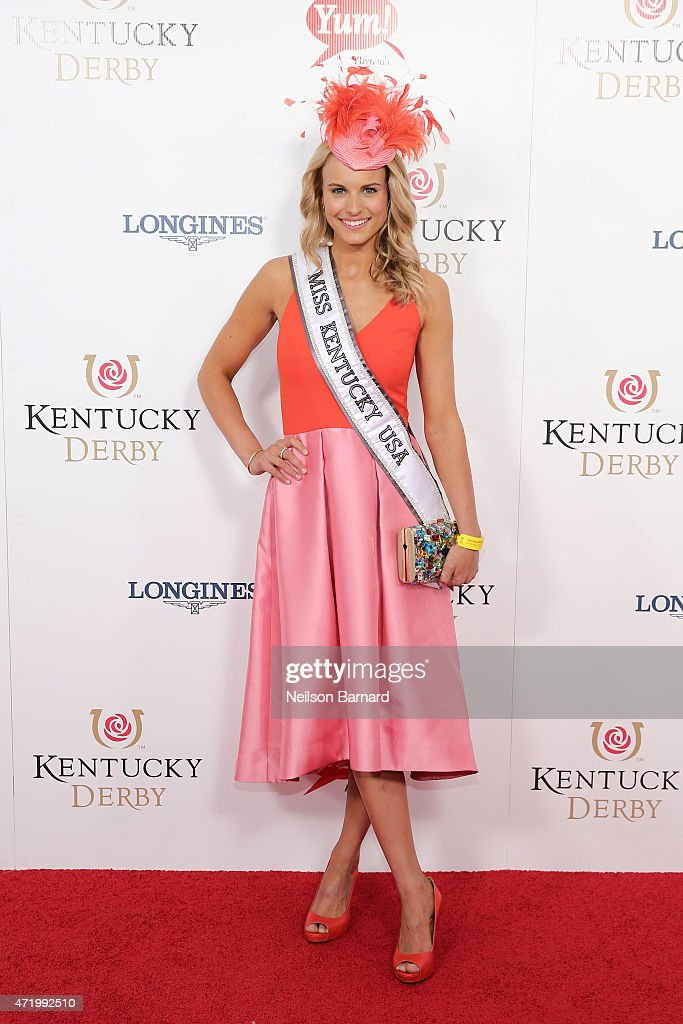 Miss Kentucky USA, Katie George attends the 141st Kentucky Derby at Churchill Downs on May 2, 2015 in Louisville, Kentucky.