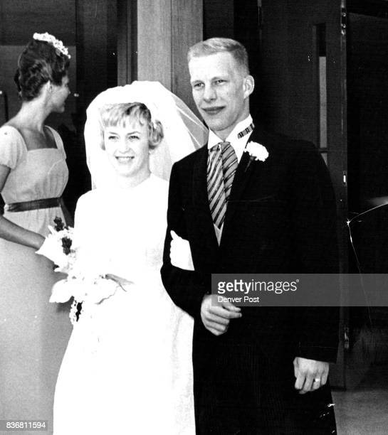 Miss Knight Becomes Bride Leaving the First Plymouth Congregational Church S Colorado Blvd and Hampden Ave after their wedding Saturday are Mr and...