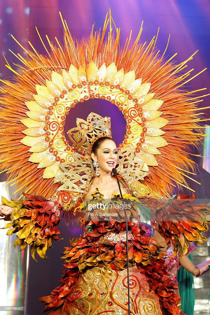 Miss Kristina Cassandra Ybarra from the Philippines in National Costume on stage in the transvestite and transgender beauty pageant Miss International Queen 2013 at Tiffany's Show theatre in Pattaya city. Twenty-five contestants from 17 countries are participating in the event, which is endowed with prize money of 300,000 Thai baht (10,000 US dollars), a crown with real gems and a free surgery at a plastic surgery clinic in Bangkok..