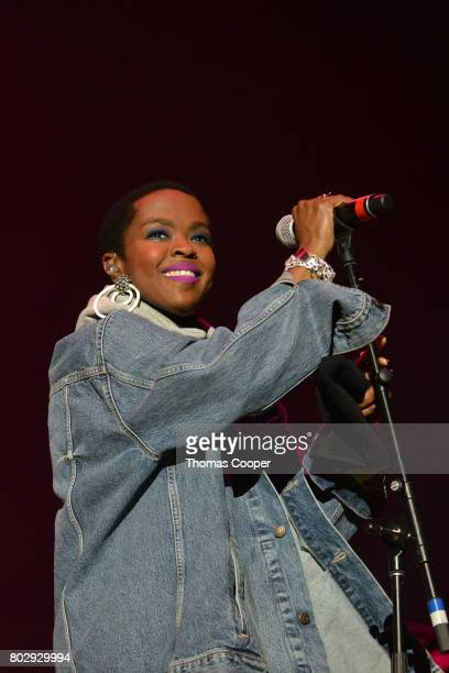 Miss Lauryn Hill performs with SeriesFest at Red Rocks Amphitheatre on June 27 2017 in Morrison Colorado