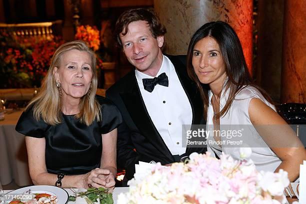 Miss Louis Schweitzer Lorenz Baumer and Miss Philippe Journo attend Gala of AROP at Opera Garnier with representation of 'La Sylphide' on June 24...