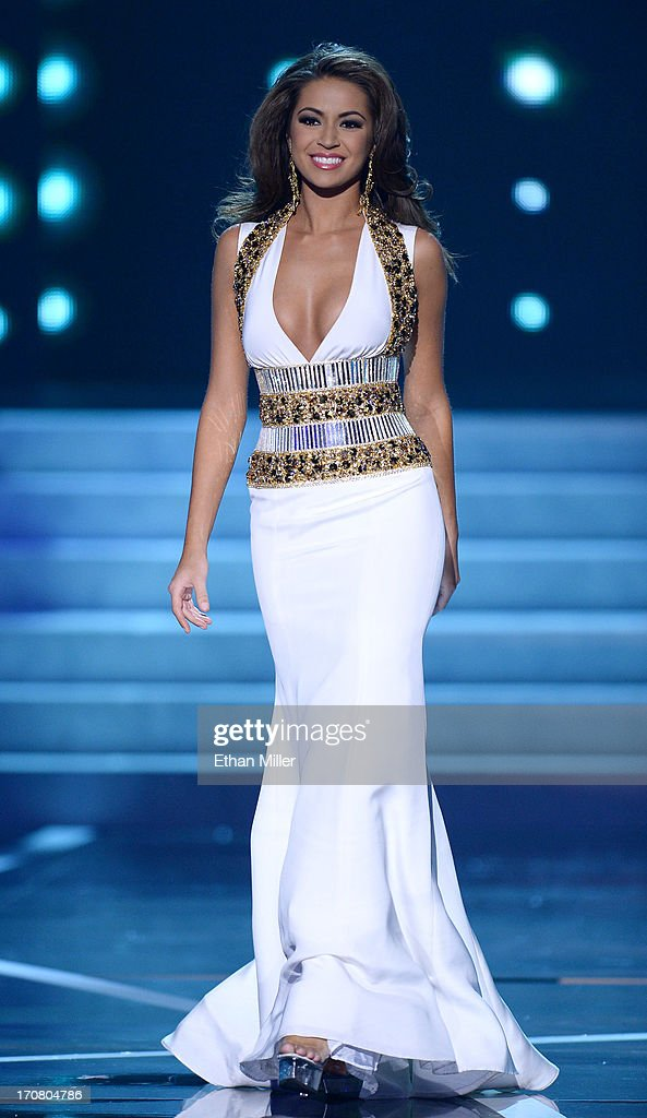 Miss Louisiana USA Kristen Girault competes in the evening gown competition during the 2013 Miss USA pageant at PH Live at Planet Hollywood Resort & Casino on June 16, 2013 in Las Vegas, Nevada.