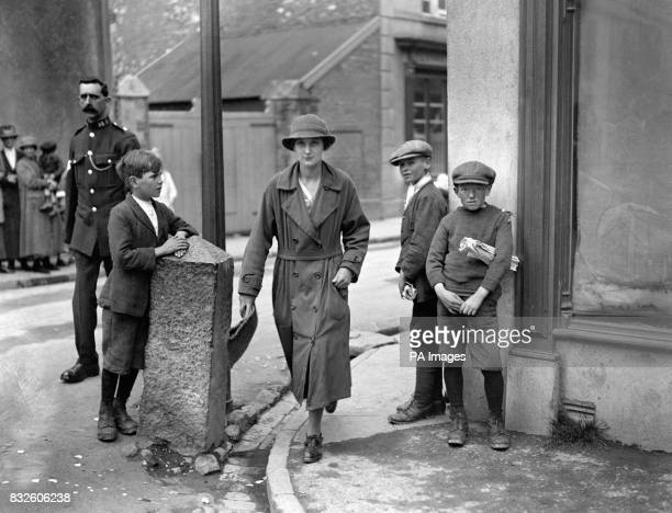 Miss Maggie Williams a former parlourmaid to Mrs Greenwood one of the witnesses to give evidence at the inquest into the death of Mabel Greenwood the...