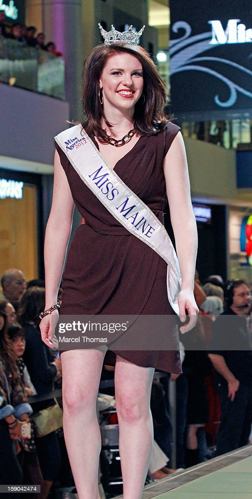 Miss Maine Molly Bouchard introduced at the 2013 Miss America Pageant 'Meet and Greet' Fashion Show at the Fashion Show mall on January 5, 2013 in Las Vegas, Nevada.