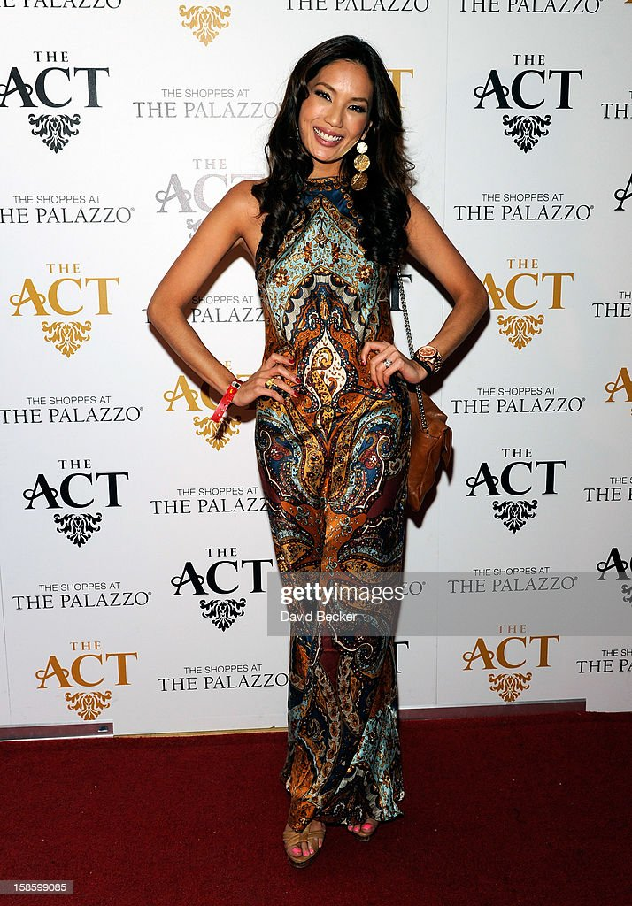Miss Malaysia 2012 Kimberley Leggett arrives at The Act at The Palazzo on December 19, 2012 in Las Vegas, Nevada.