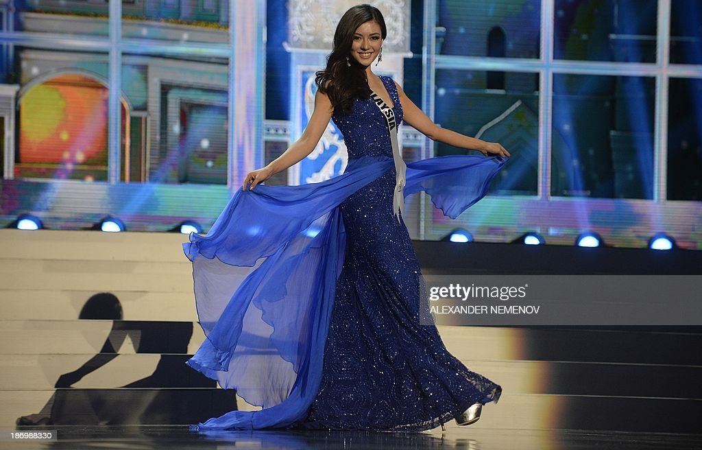 Miss Malaysia Carey Ng competes in the 2013 Miss Universe preliminary competition in Moscow on November 5, 2013. Miss Universe 2013 will be crowned at the pageant final show on November 9.