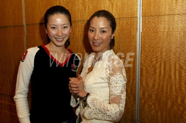 Miss Malaysia Gloria Ting And Michelle Yeoh During Force Of Nature Wireimage 109564827