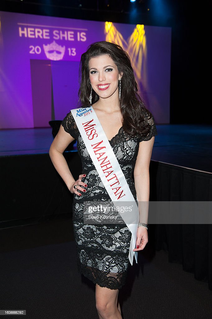 Miss Manhattan Amanda Mason attends the Miss America 2013 Mallory Hagan Official Homecoming Celebration at The Fashion Institute of Technology on March 16, 2013 in New York City.