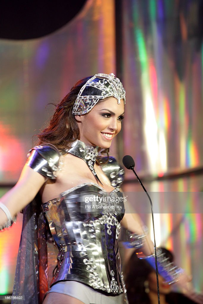 Miss Marcela Ohio from Brazil in National Costume on stage in the transvestite and transgender beauty pageant Miss International Queen 2013 at Tiffany's Show theatre in Pattaya city. Twenty-five contestants from 17 countries are participating in the event, which is endowed with prize money of 300,000 Thai baht (10,000 US dollars), a crown with real gems and a free surgery at a plastic surgery clinic in Bangkok..