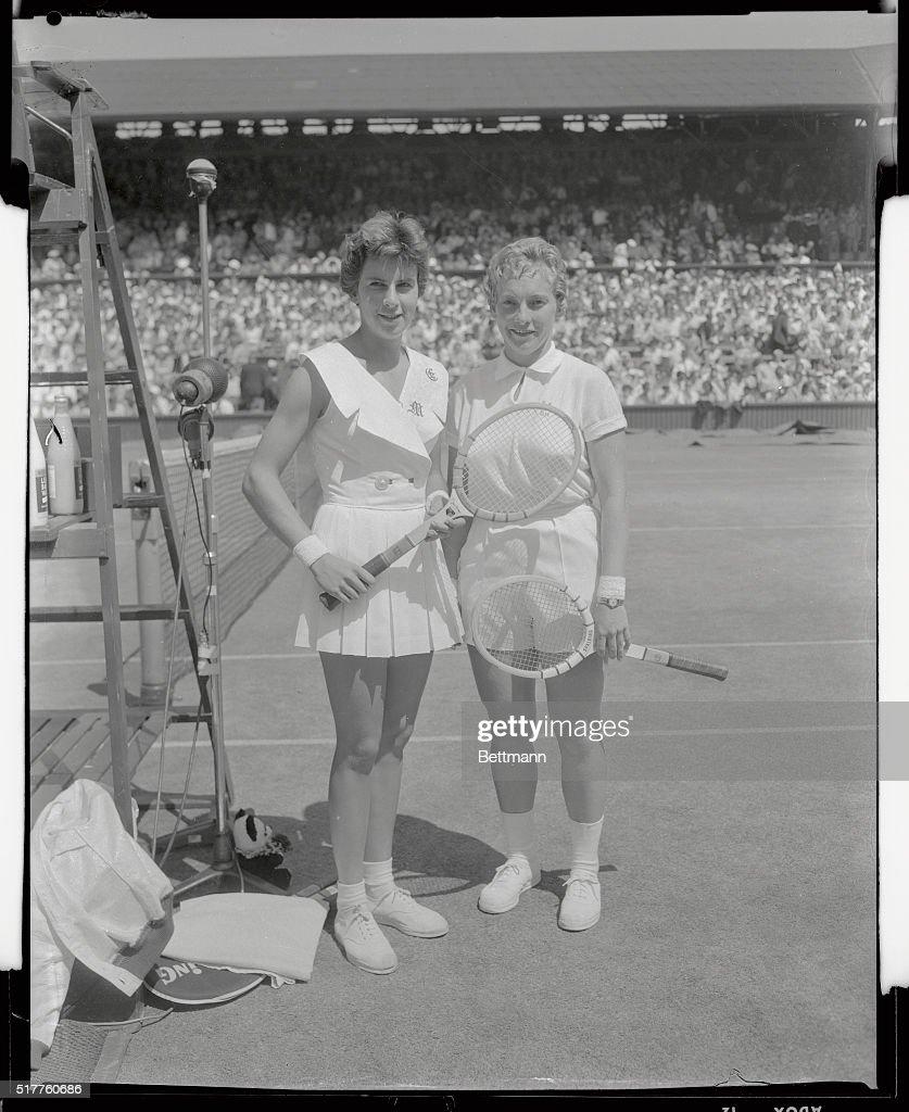 Maria Bueno and Darlene Hold at Wimbledon