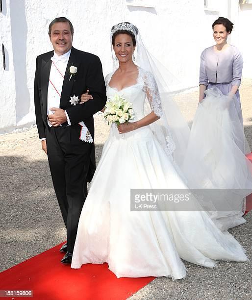 Miss Marie Cavallier Arrives For Her Wedding To Prince Joachim Of Denmark At Mogeltonder Church In Mogeltonder Denmark