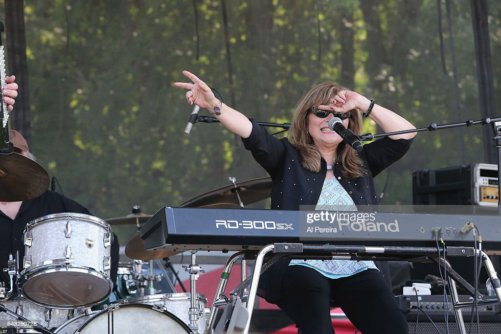 Miss Marie of Professor Louie and the Cromatix performs at Day Two of the Rockland-Bergen Music Festival at German Masonic Park on June 25, 2016 in Tappan, New York.