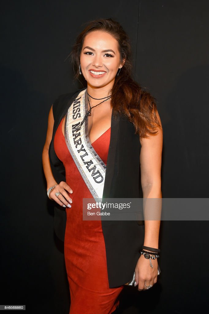 Miss Maryland USA, Adrianna David, attends the Zang Toi fashion show during New York Fashion Week: The Shows at Gallery 3, Skylight Clarkson Sq on September 13, 2017 in New York City.