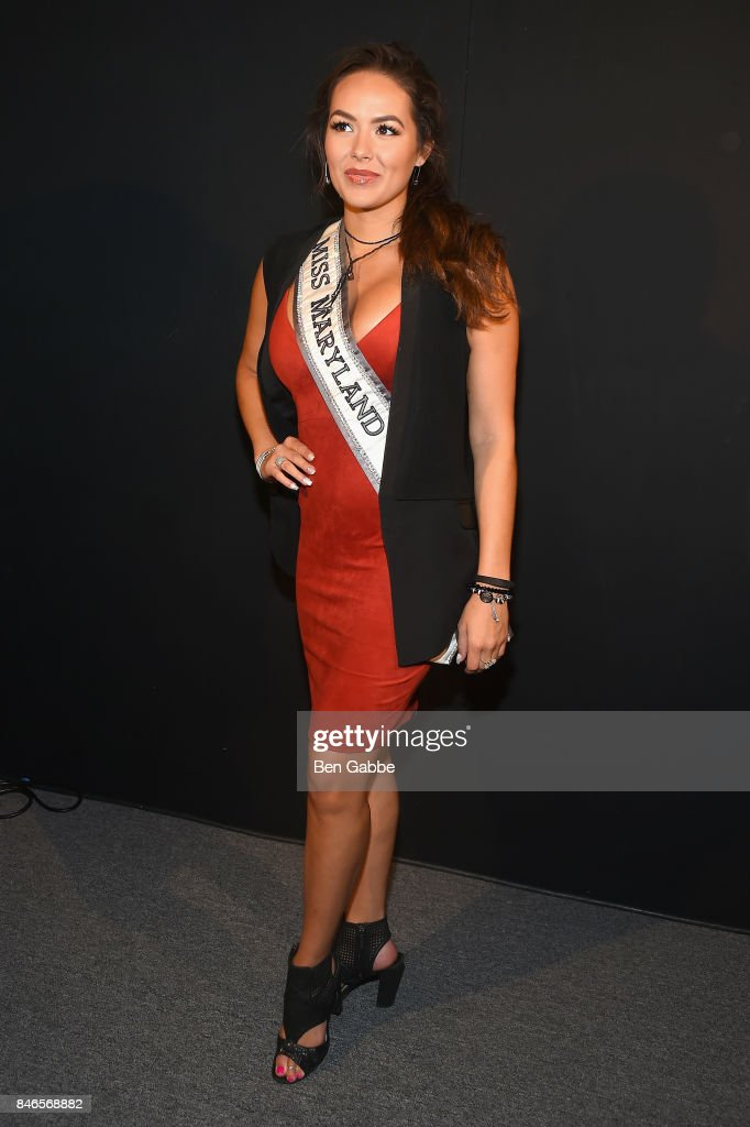 Miss Maryland USA, Adrianna David attends the Zang Toi fashion show during New York Fashion Week: The Shows at Gallery 3, Skylight Clarkson Sq on September 13, 2017 in New York City.