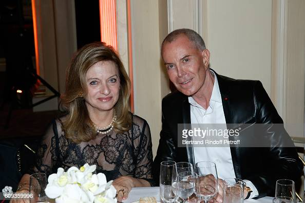 Miss Maurice Lemoine and stylist JeanClaude Jitrois attend the Charity Dinner to Benefit 'Claude Pompidou Foundation' following the 'Cezanne et Moi'...