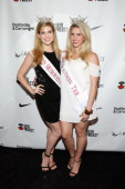 Miss Metropolitan 2014 Julia Rae and Miss Southern Tier 2014 Jillian Tapper attend the SEED Project 2014 Summer Event at UpDown on June 24 2014 in...