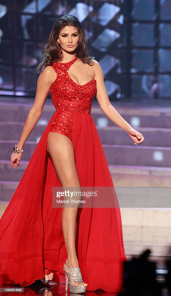Miss Mexico 2012 Karina Gonzalez competes in the evening gown competition during the 2012 Miss Universe Pageant at Planet Hollywood Resort & Casino on December 19, 2012 in Las Vegas, Nevada.