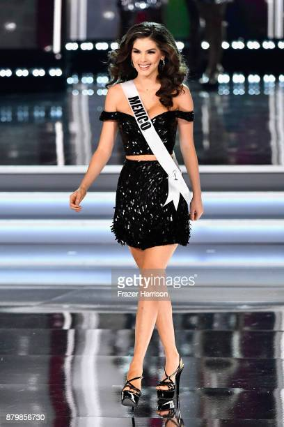 Miss Mexico 2017 Denisse Franco competes during the 2017 Miss Universe Pageant at The Axis at Planet Hollywood Resort Casino on November 26 2017 in...