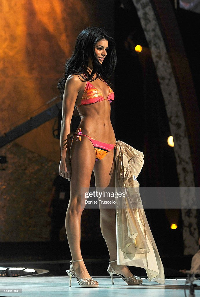 Miss Michigan Rima Fakih competes at the Miss USA 2010 pageant at Planet Hollywood Casino Resort on May 16, 2010 in Las Vegas, Nevada.