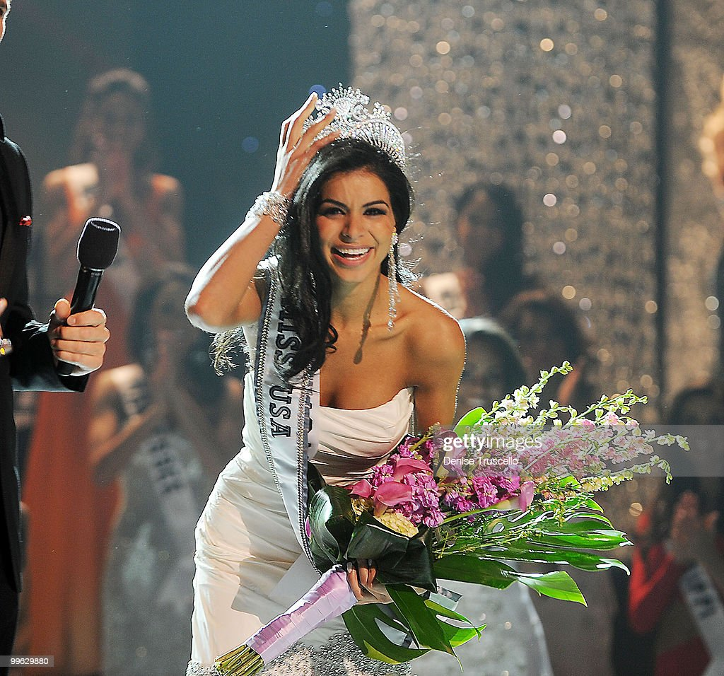 Miss Michigan Rima Fakih wins the 2010 Miss USA Pageant at Planet Hollywood Casino Resort on May 16, 2010 in Las Vegas, Nevada.