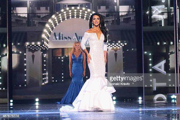 Miss Minnesota Rachel Latuff attends the Thursday Night Preliminaries 2016 Miss America Competition at Atlantic City Boardwalk Hall on September 10...