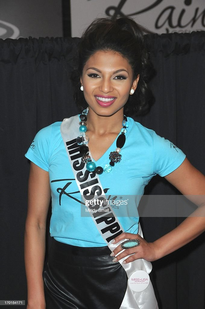 Miss Mississippi USA Paromita Mitra appears at the D Las Vegas for a meet and greet and autograph signing on June 7, 2013 in Las Vegas, Nevada.