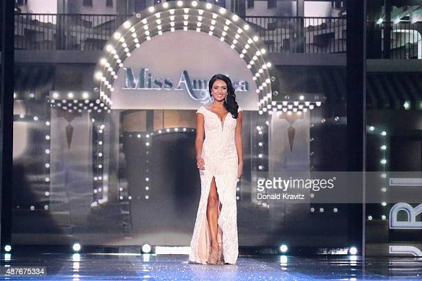 Miss Missouri McKensie Garber attends the Thursday Night Preliminaries 2016 Miss America Competition at Atlantic City Boardwalk Hall on September 10...