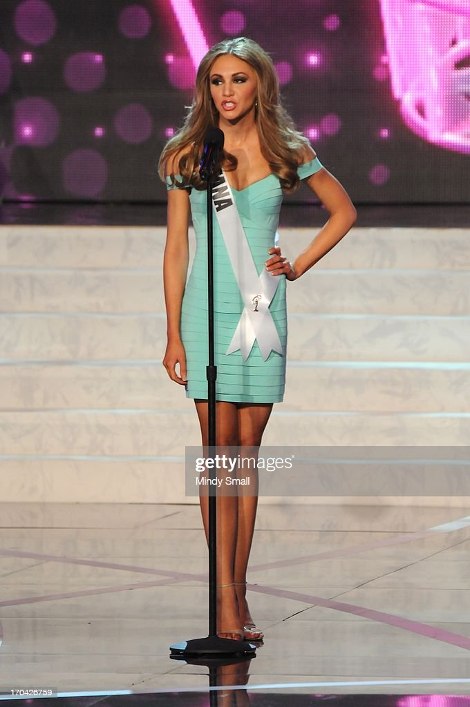 Miss Montana USA Kacie West appears at the 2013 Miss USA preliminary competition at PH Live at Planet Hollywood Resort & Casino on June 12, 2013 in Las Vegas, Nevada.
