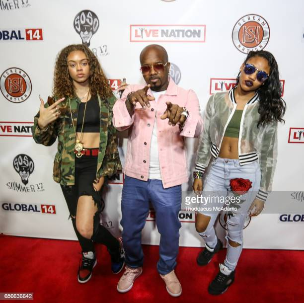 Miss Mulatto Jermaine Dupri and Supa Peach speaks at The SoSoSummer17 Press Confrence at Top Golf Midtown on March 22 2017 in Atlanta Georgia