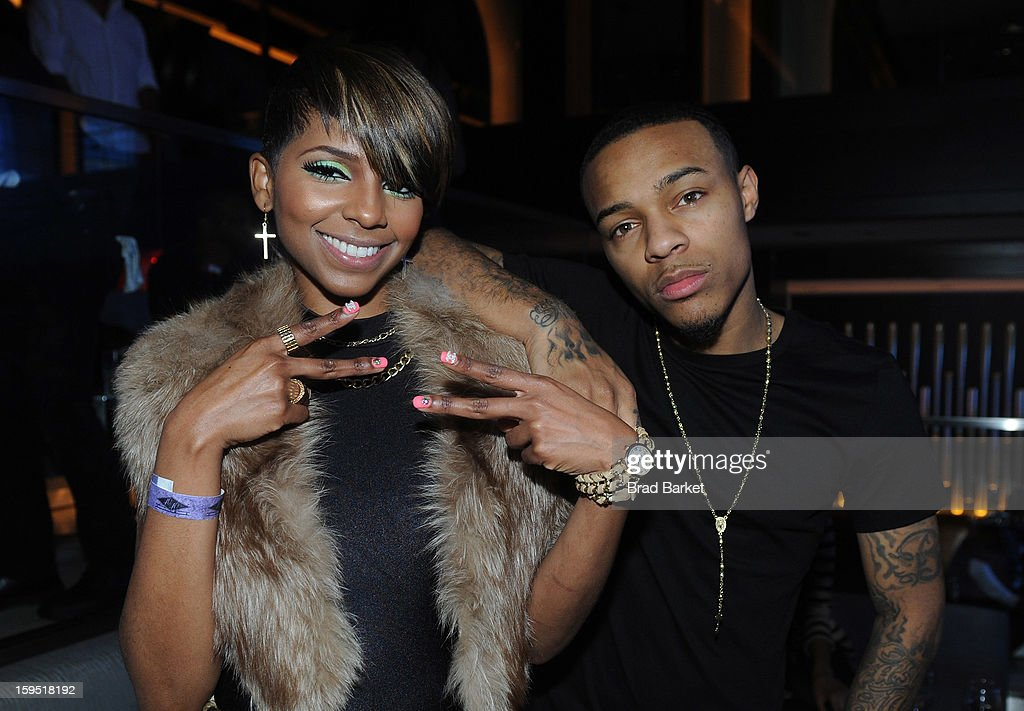 Miss Mykie and Bow Wow attend BET Networks New York Premiere Of 'Real Husbands of Hollywood' And 'Second Generation Wayans' - After Party at 40 / 40 Club on January 14, 2013 in New York City.