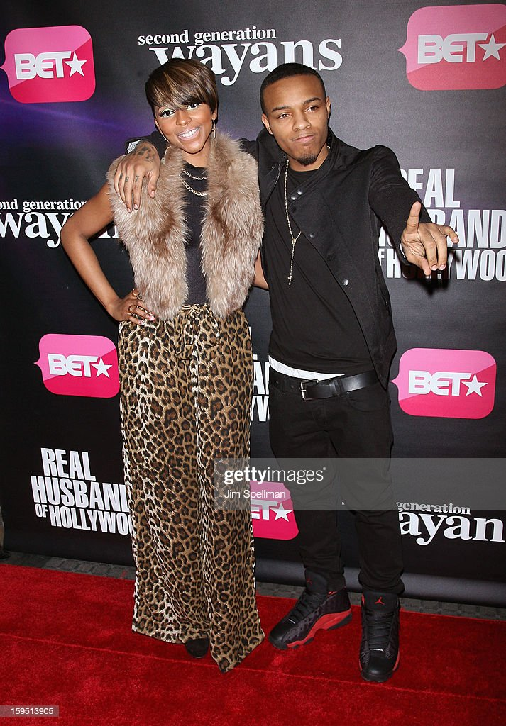 Miss Mykie and rapper Bow Wow attends the 'Real Husbands Of Hollywood' & 'Second Generation Wayans' screening at SVA Theatre on January 14, 2013 in New York City.