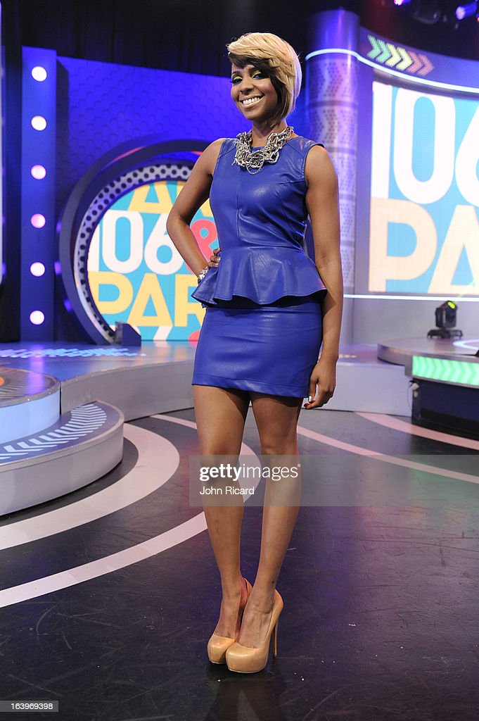 Miss Mykie at BET's 106 & Park Studio on March 18, 2013 in New York City.