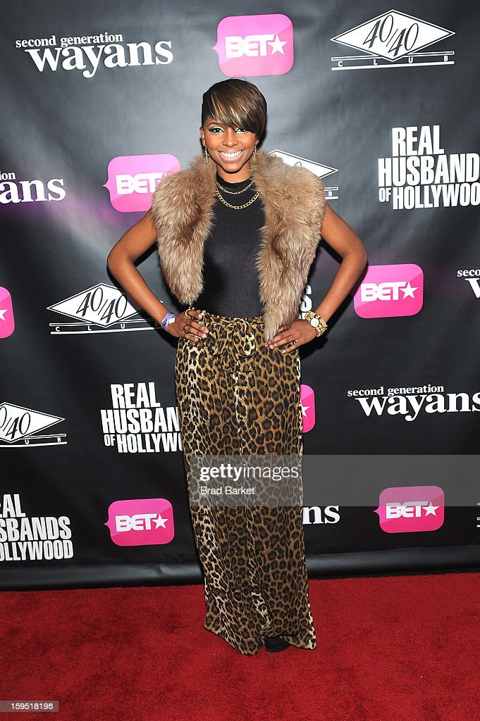 Miss Mykie attends BET Networks New York Premiere Of 'Real Husbands of Hollywood' And 'Second Generation Wayans' - After Party at 40 / 40 Club on January 14, 2013 in New York City.