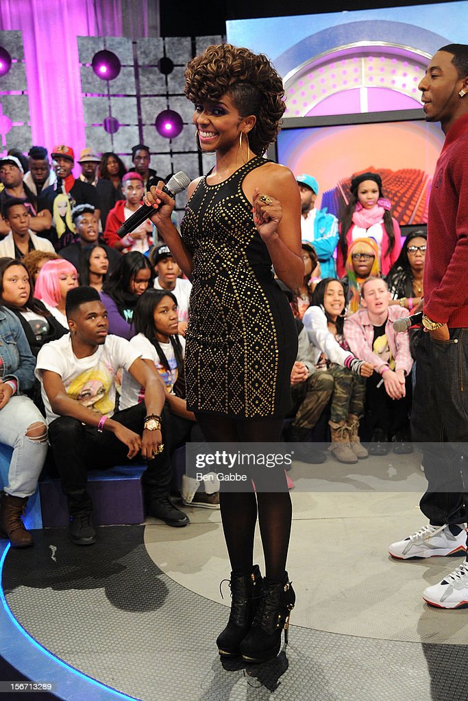 Miss Mykie attends BET's 106 & Park Studio on November 19, 2012 in New York City.