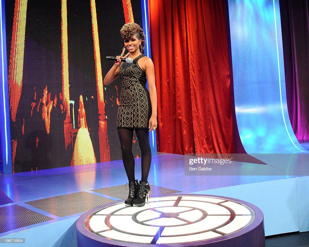 Miss Mykie attends BET's 106 & Park Studio on November 19, 2012 in New York City.